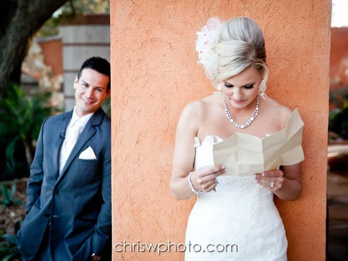 YES! Reading a letting from Kris before the wedding!!! Agave Estates | Gallery