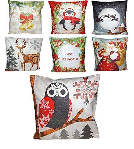 Moderne Kissenhüllen modernes kissen kissenhülle weihnachten modern bildmotive farbig