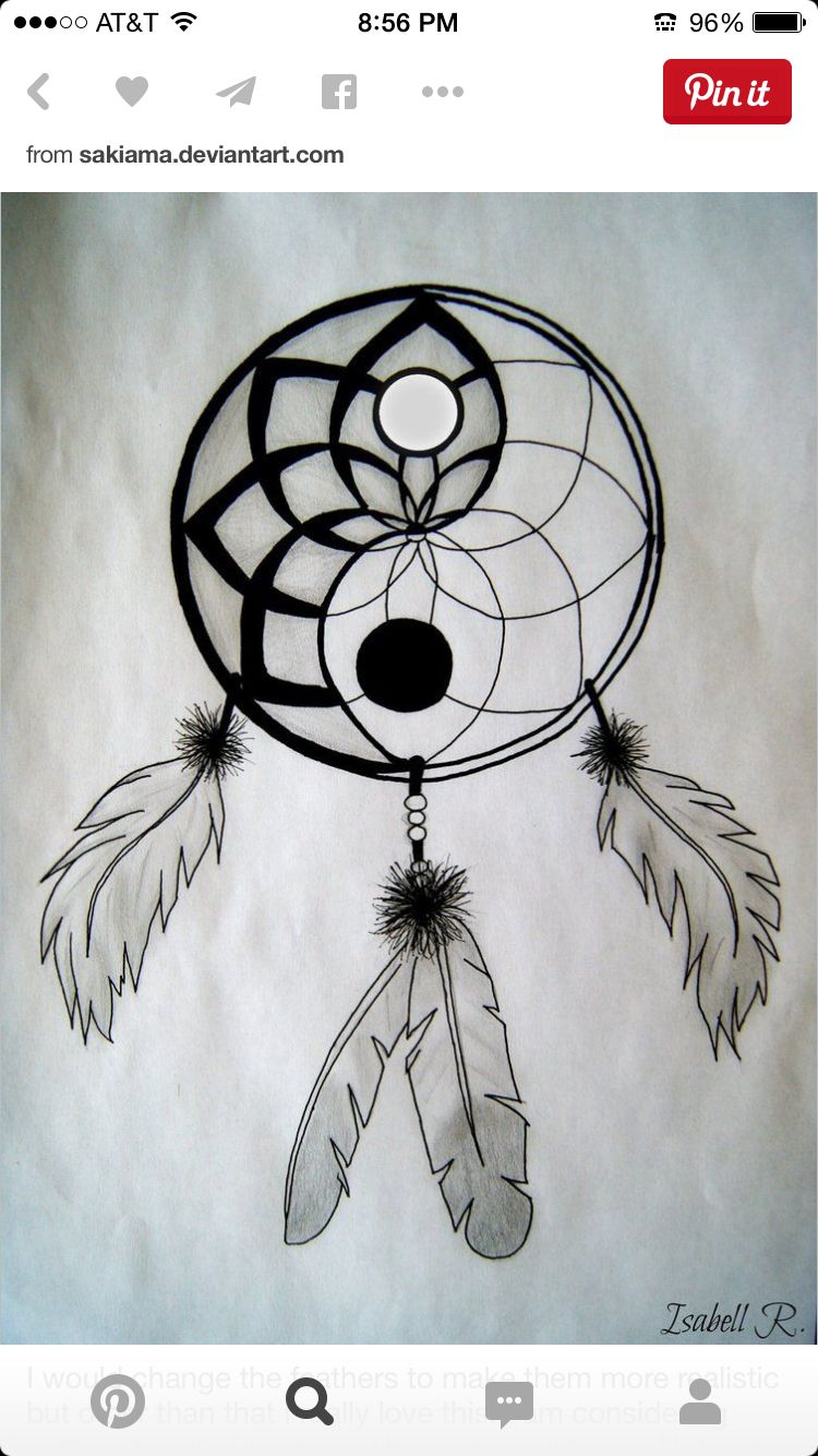 This Is Cool Ying And Yang Dream Catcher Geo 2