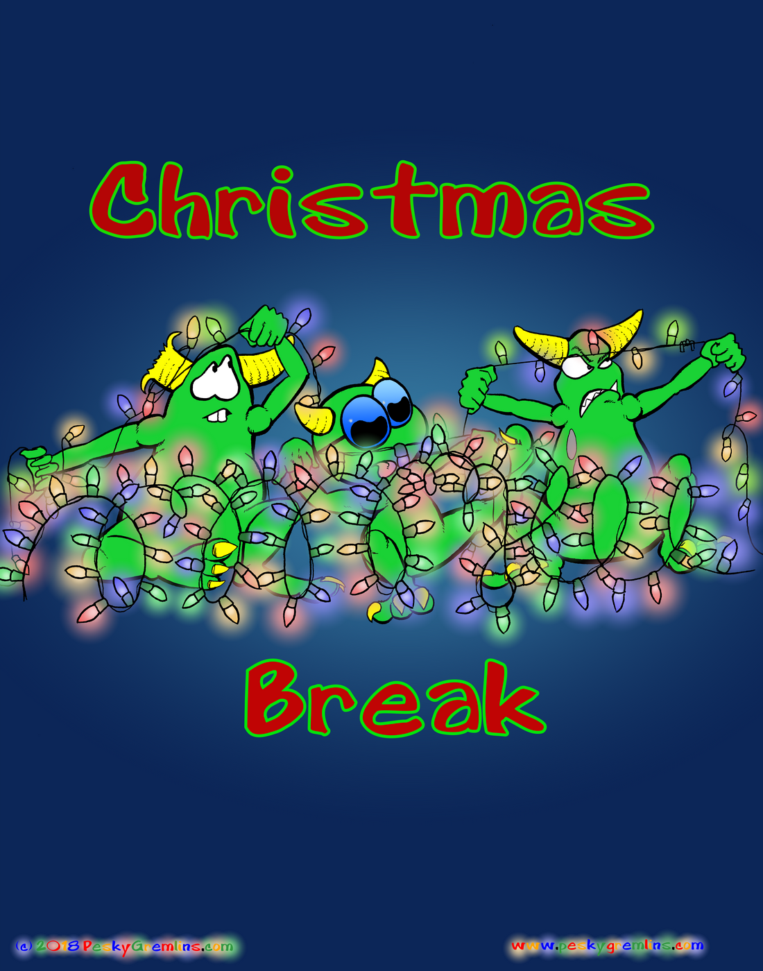 Comic 461 - Christmas Break   Gremlins, Christmas break, Comics