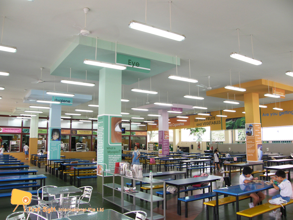 Canteen renovation Xinmin Secondary Singapore by First