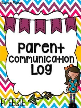 Freebie Parent Communication Log Binder Cover  Template To Use