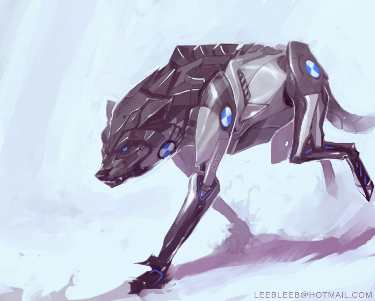 Deviantart Robot Animals: DeviantArt: More Collections Like Robotic Wolf Concept By