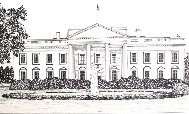 Pin By Alla On White House Coloring Pages White House Drawing House Sketch House Colouring Pages