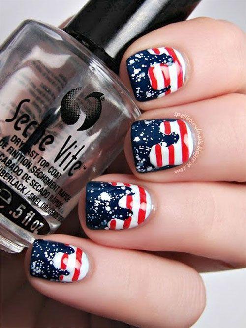 American Flag Nail Art Designs American Flag Nail Art Designs