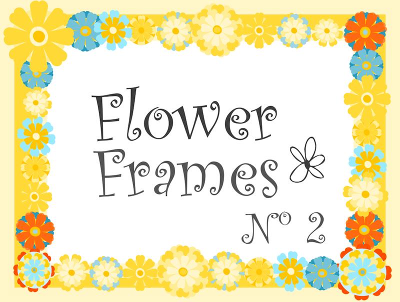 free digital scrabbooking flower frames No 2 – happy summer flower ...