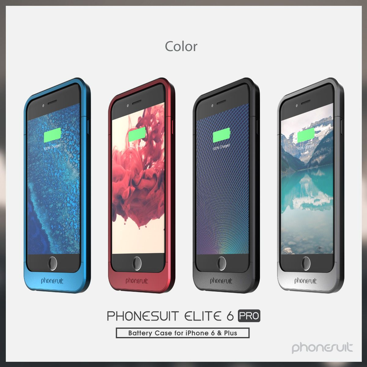 competitive price 99278 7f1a1 Check out all the new colors! PhoneSuit Elite 6 Battery Case for ...