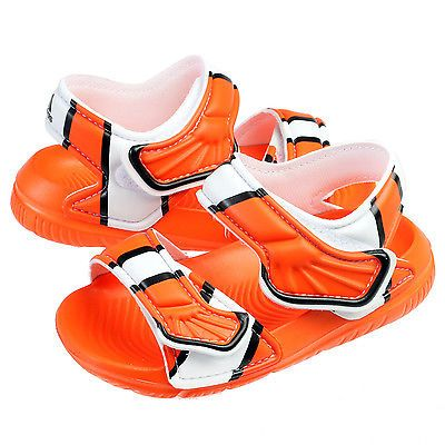4838933485971e Adidas Disney Nemo Akwah 9 Infant AF3921 Orange Toddler Sandals Baby Size 5