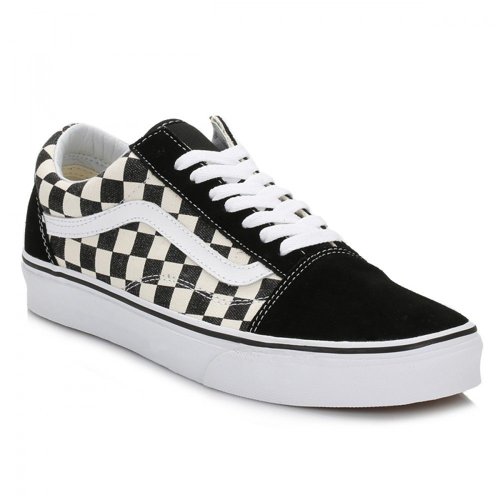 Vans Checkboard Black Espresso Old Skool Trainers in 2019  3db0ec4bf
