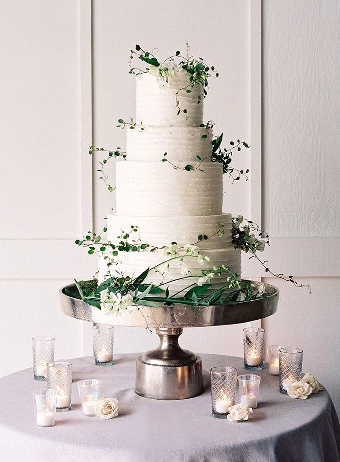 Wedding cake modern  Wedding Cake And Dessert Inspiration - Once Wed   White wedding ...