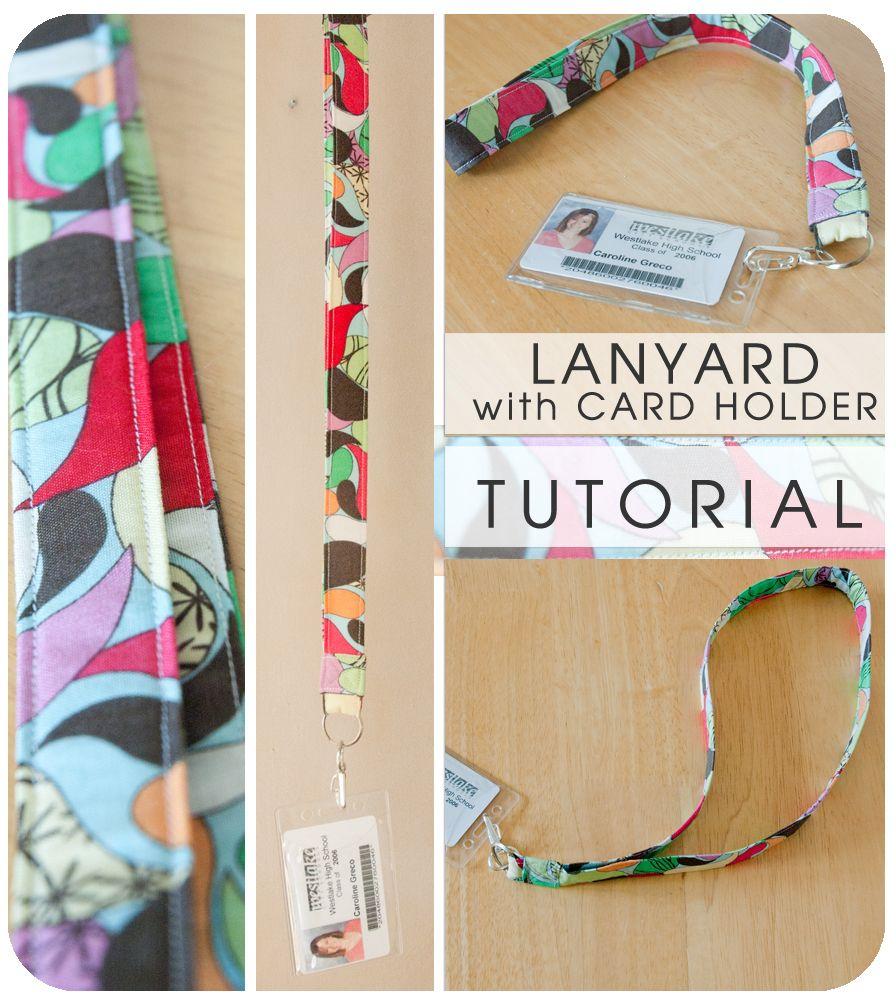 Lanyard With Card Holder Tutorial Diy Lanyard Sewing Projects Lanyard Tutorial