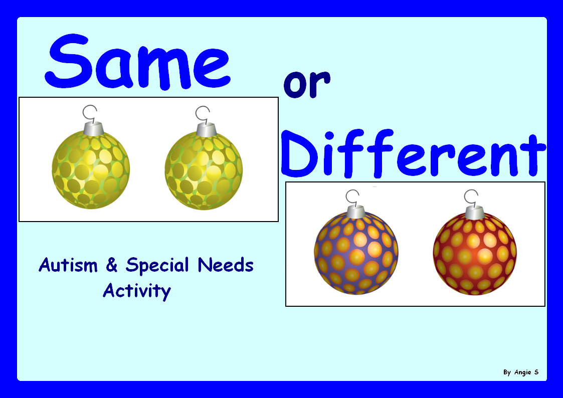 Christmas Activity Same and Different Baubles | Special education ...