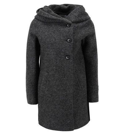 Manteau mi long à capuche   Manteau, Manteau bleu, Mode