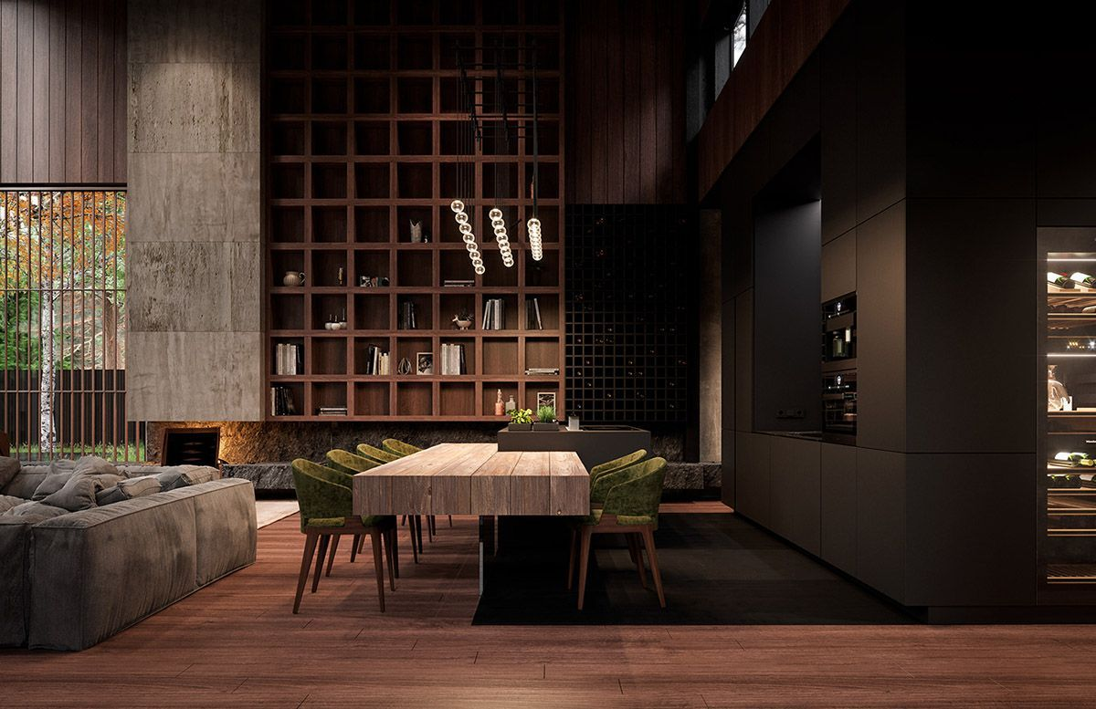 Rich Exquisite Modern Rustic Home Interior Rich Exquisite