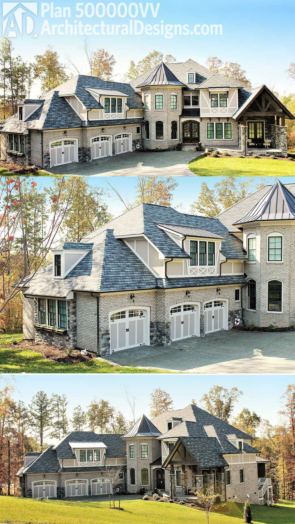 Architectural Designs 4 Bed Luxury House Plan 500000vv Has A Brick Exterior With Stone And Stucco Accent Luxury House Plans European House European House Plans