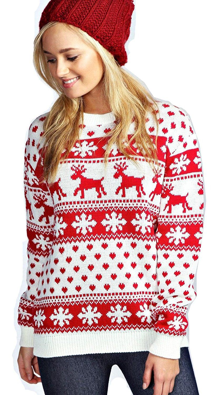 Red Olives® Womens Ladies Christmas Jumper Double Twin