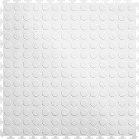 Perfection Floor Tile 8 Piece 20 5 In X 20 5 In White Raised Coin Garage Floor Tile Cn540wt45 Garage Floor Tiles Tile Floor Tile Floor Living Room