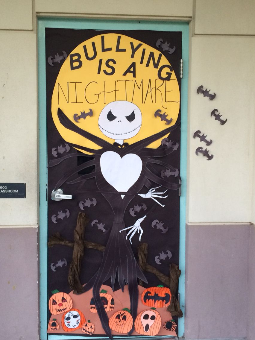 Bullying Door Decoration | Halloween/Pumpkin Theme ...