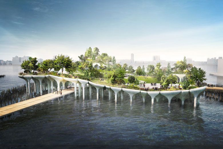 $170 Million USD Floating Island Planned for Hudson River Projects