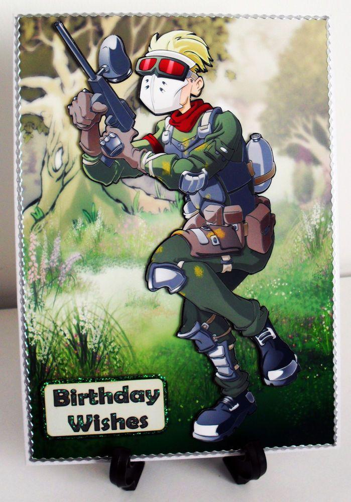 Handmade personalised paintball son male birthdayage greeting card birthdays bookmarktalkfo Image collections