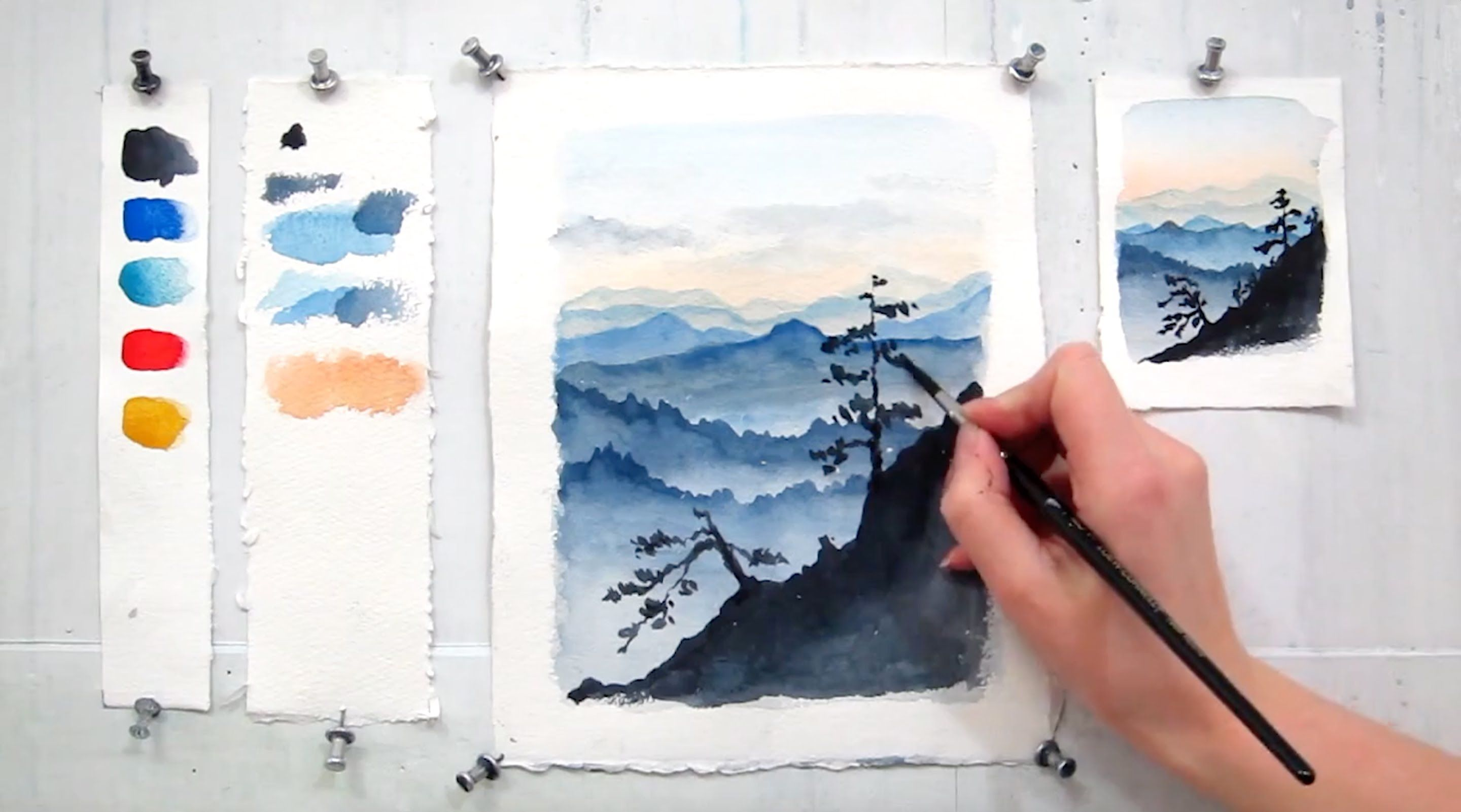 In This 7 Minute Tutorial You Will Study How To Paint Sky And Moun