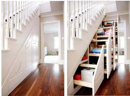 Almacenaje debajo de escaleras