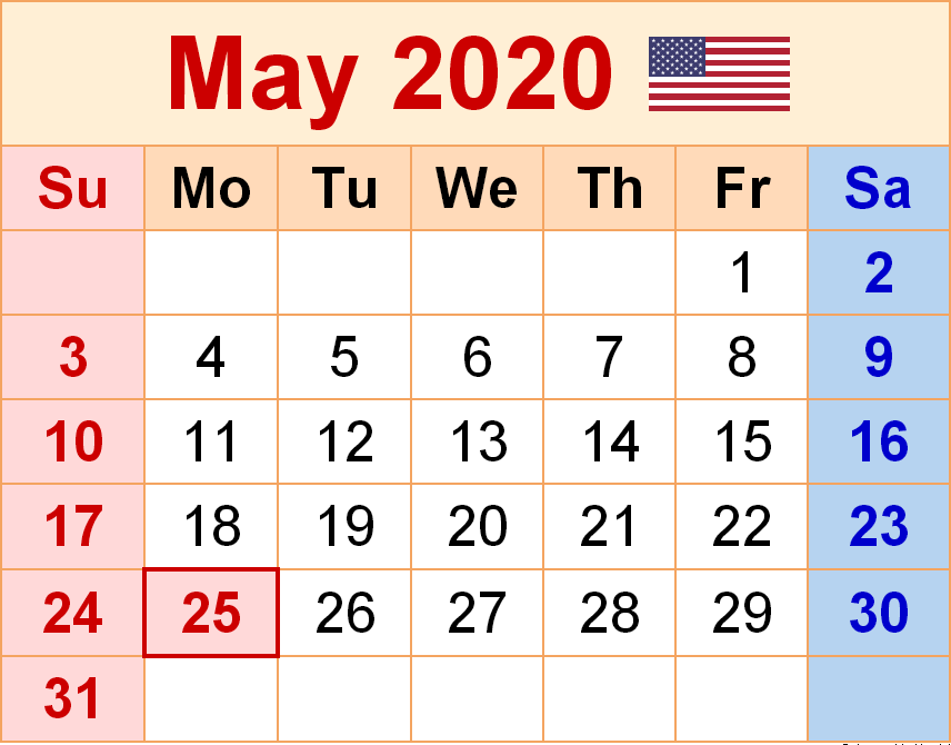 Floral May 2020 Calendar Cute Printable Template Hd Wallpaper