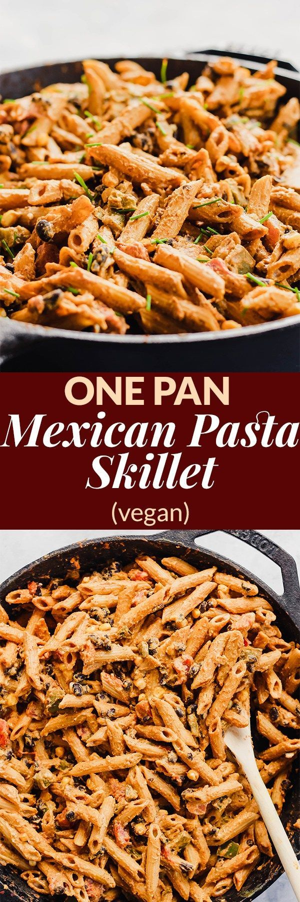 Pan Mexican Pasta Skillet (vegan) Dinner is served in 30 minutes with this One Pan Mexican Pasta Skillet with a dairy-free chipotle yogurt sauce! It's insanely satisfying thanks to 16 grams of plant protein per serving. (vegan) @PompeianDinner is served in 30 minutes with this One Pan Mexican Pasta Skillet with a dairy-free chipotle y...