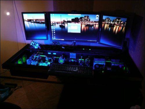 How To Build Your Dream Desk 24 Photos Custom Computer Desk