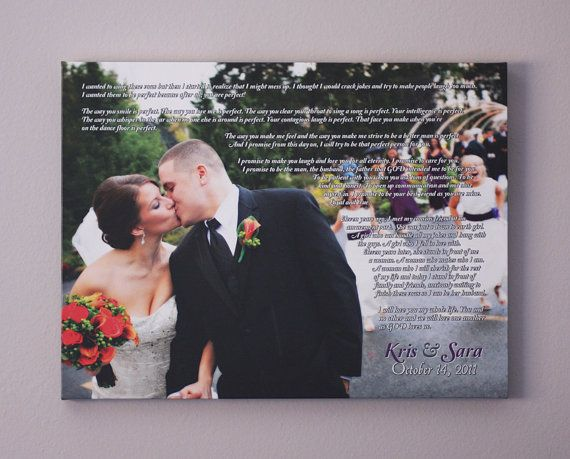 Gift Ideas For Husband On Wedding Day: Wedding Canvas Vows Anniversary Gift Wedding Vow Art