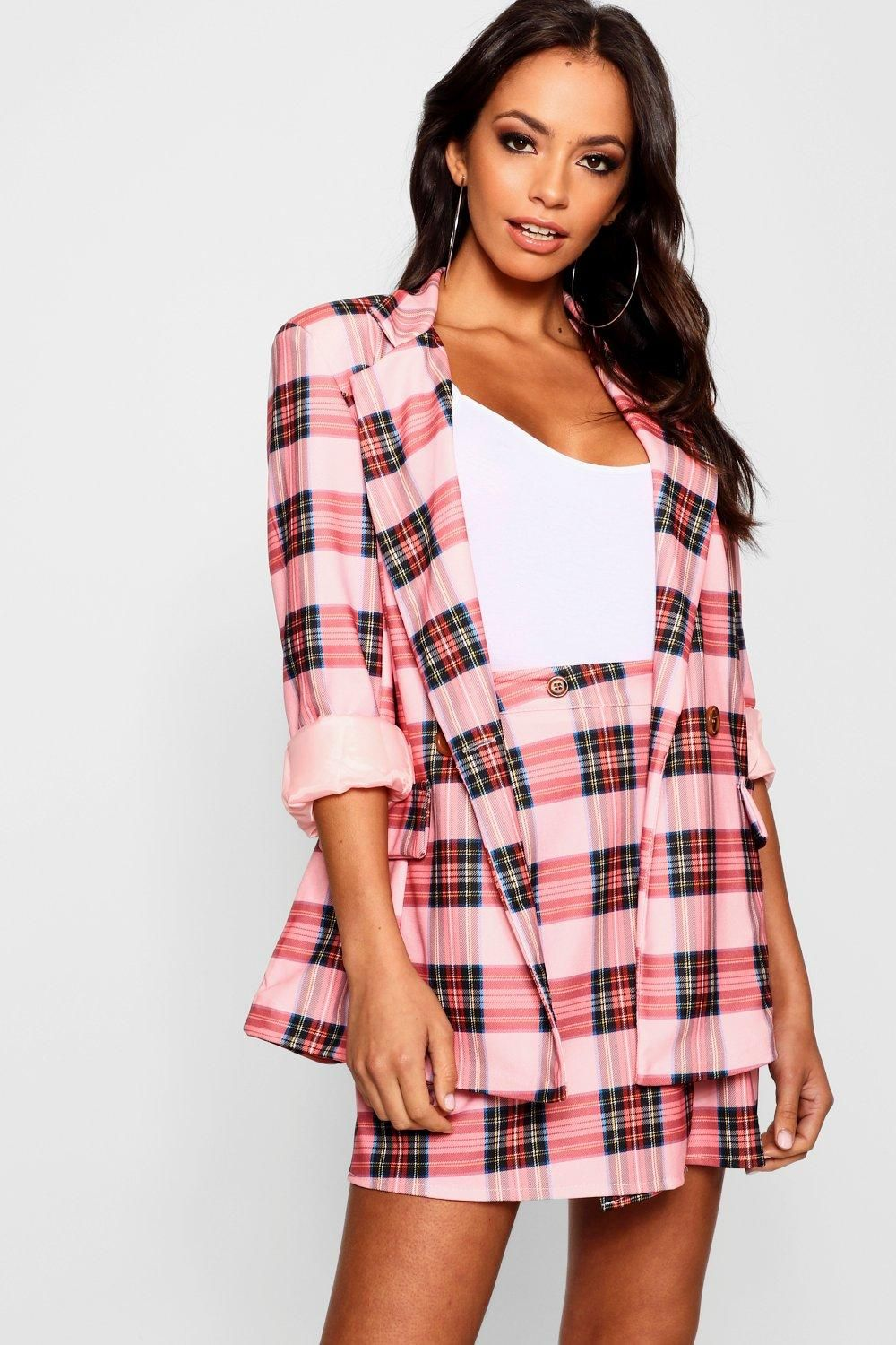 7656ce0dd57 Click here to find out about the Pink Check Double Breasted Blazer from  Boohoo