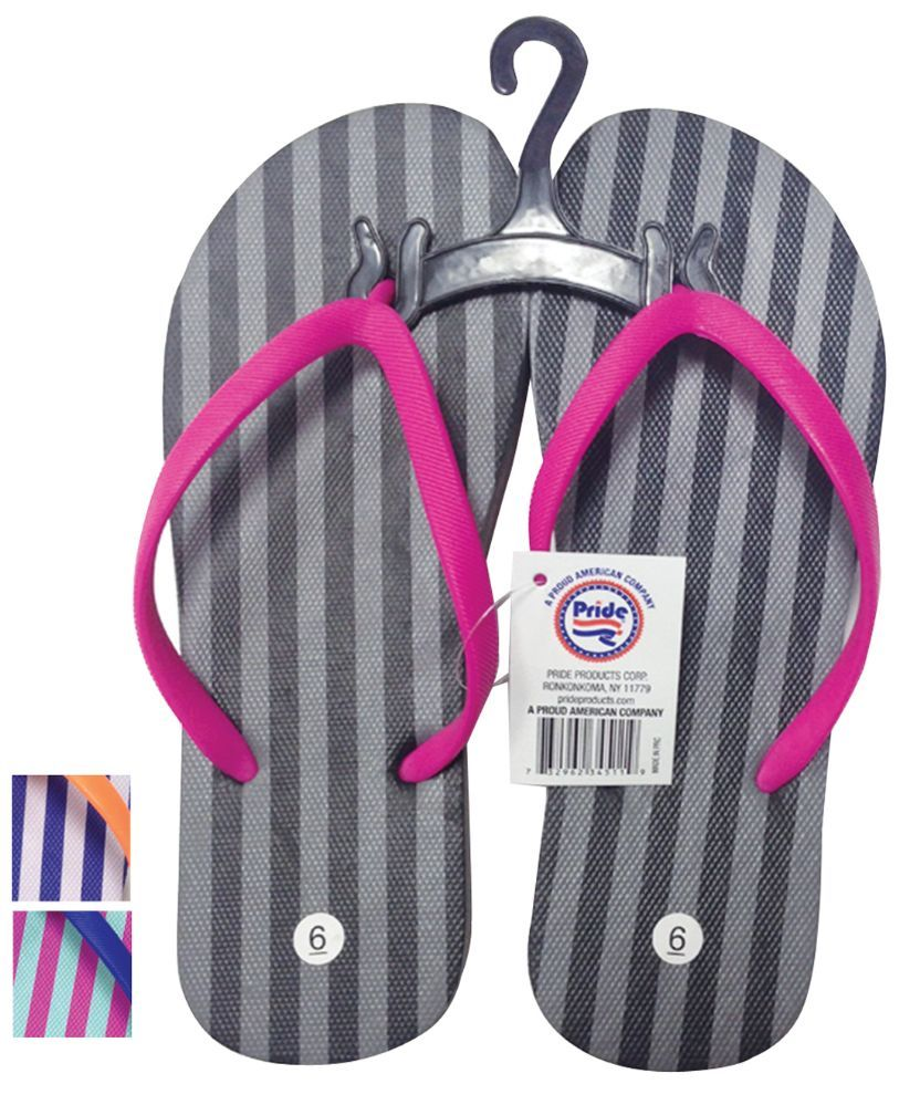 82bb110711159 24 Units of PRIDE LADIES FLIP FLOP STRIPED ASSORTED SIZES 5-10 AND COLORS - Women s  Flip Flops