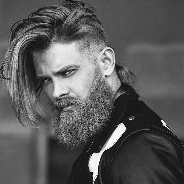 Viking Style Undercut Hairstyle For Men Vikings Hairstyle Mens