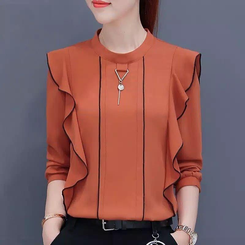 Baju Atasan Wanita Korea Lengan Panjang