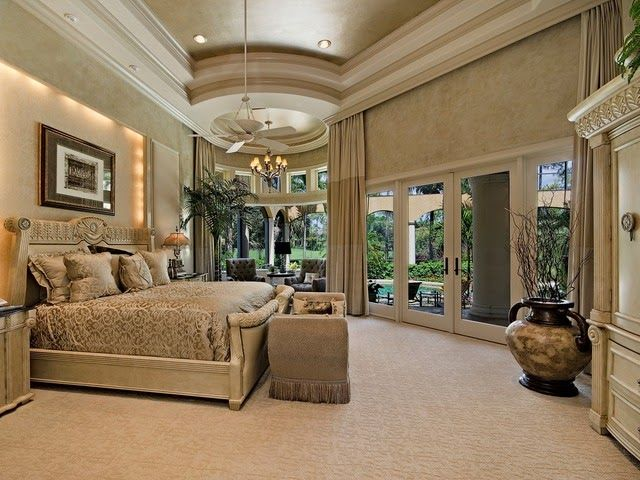 Padova In Mediterra Naples Florida Traditional Master Bedroom Ceiling Details Rope