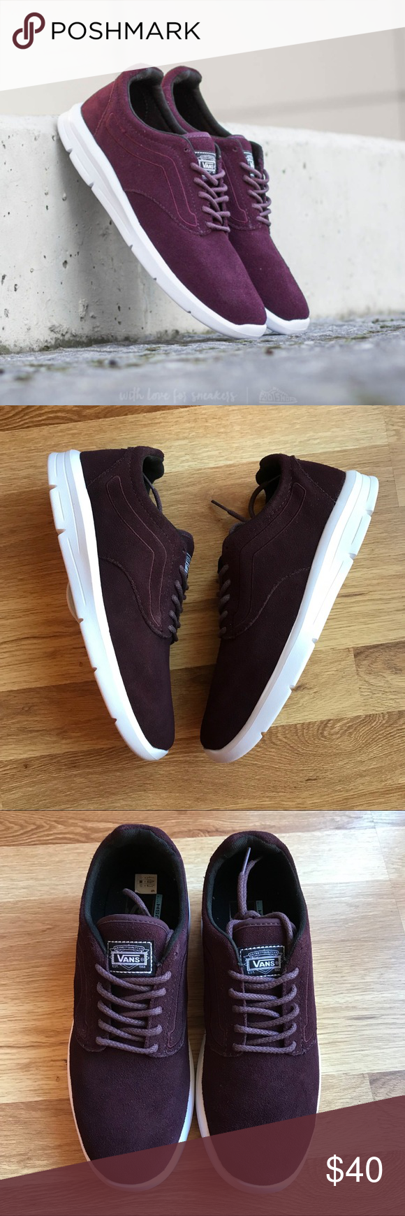 ab06db717533f3 Vans ISO Suede Iron Brown Sneakers Sz 9 Men s 7.5 or Women s 9 New in box  Smoke free and pet free home. Vans Shoes Sneakers