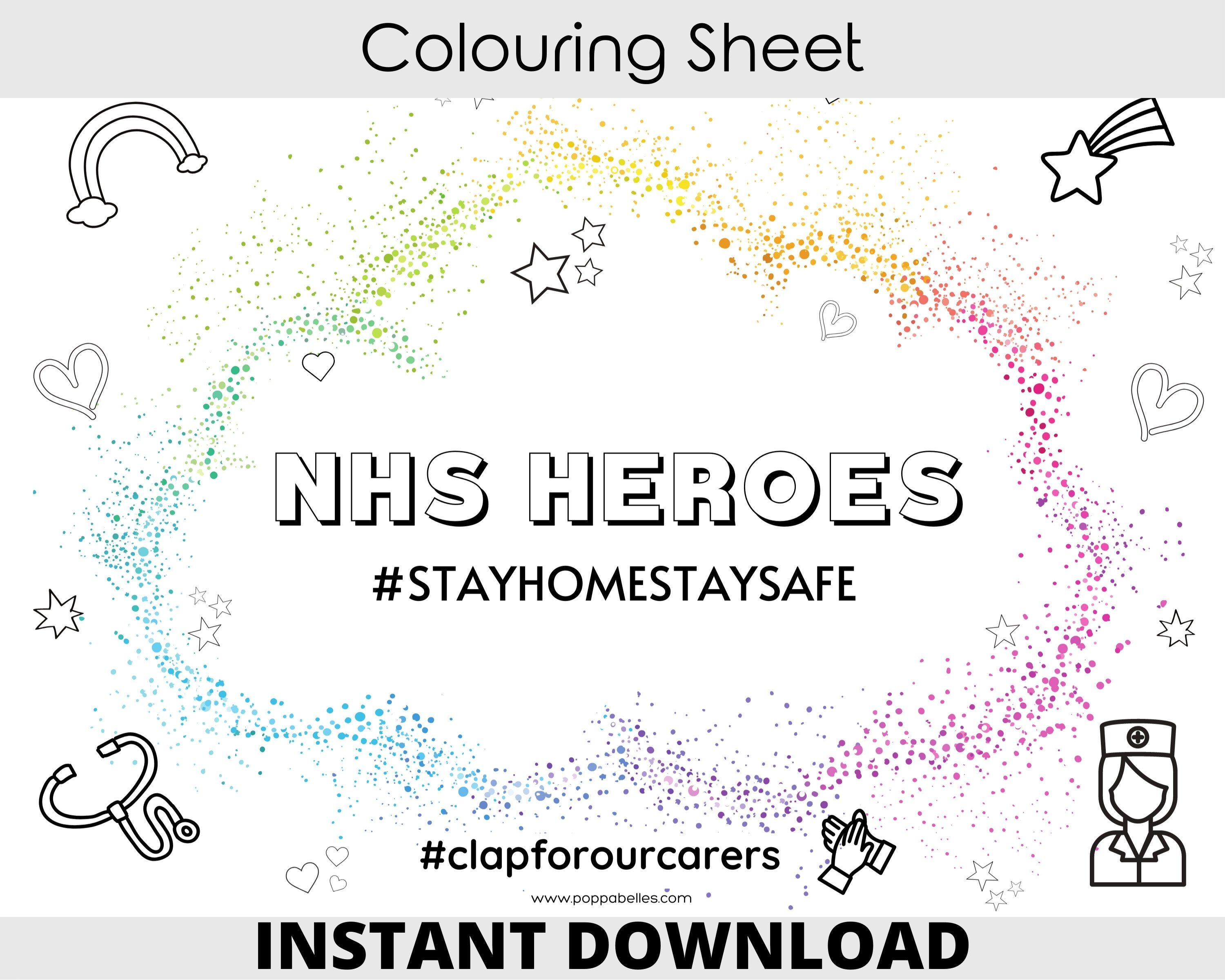 Nhs Heroes A4 Colouring Sheet Colouring Sheet For Kids Or Adults To Create Positivity Inst Coloring Sheets For Kids Coloring Sheets Free Printable Worksheets