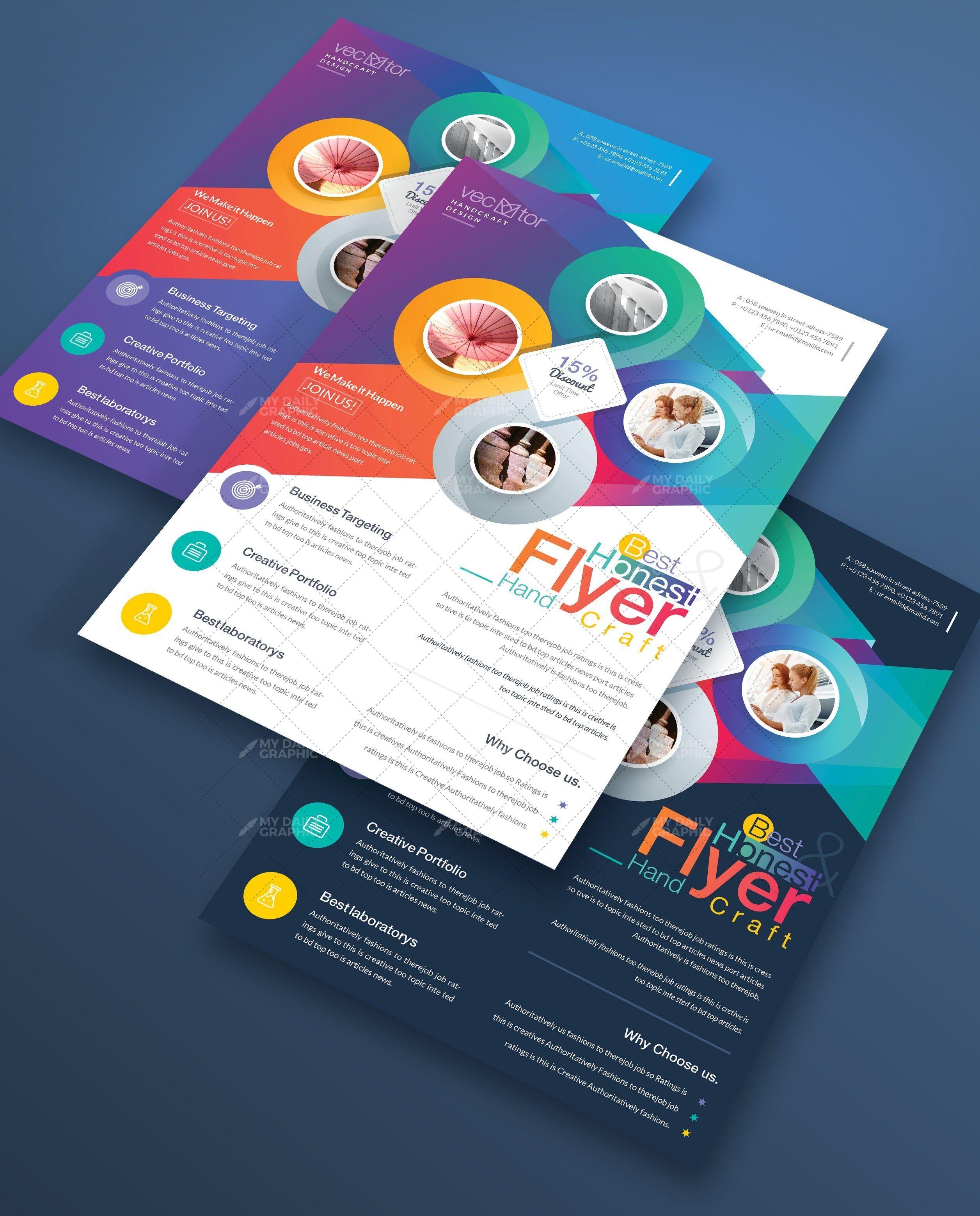 Multicolor Business Flyer Template