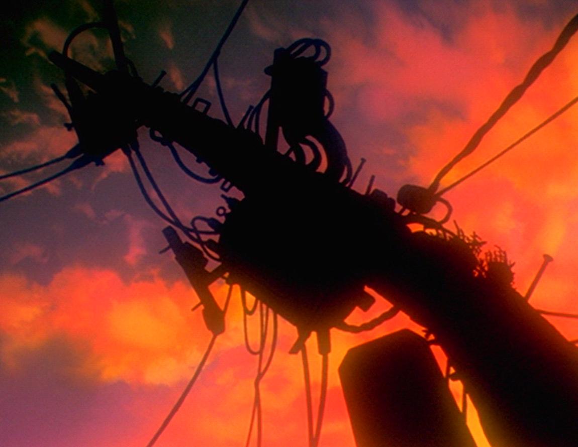 Evangelion anime 電柱 Evangelion, Cinematography, Neon