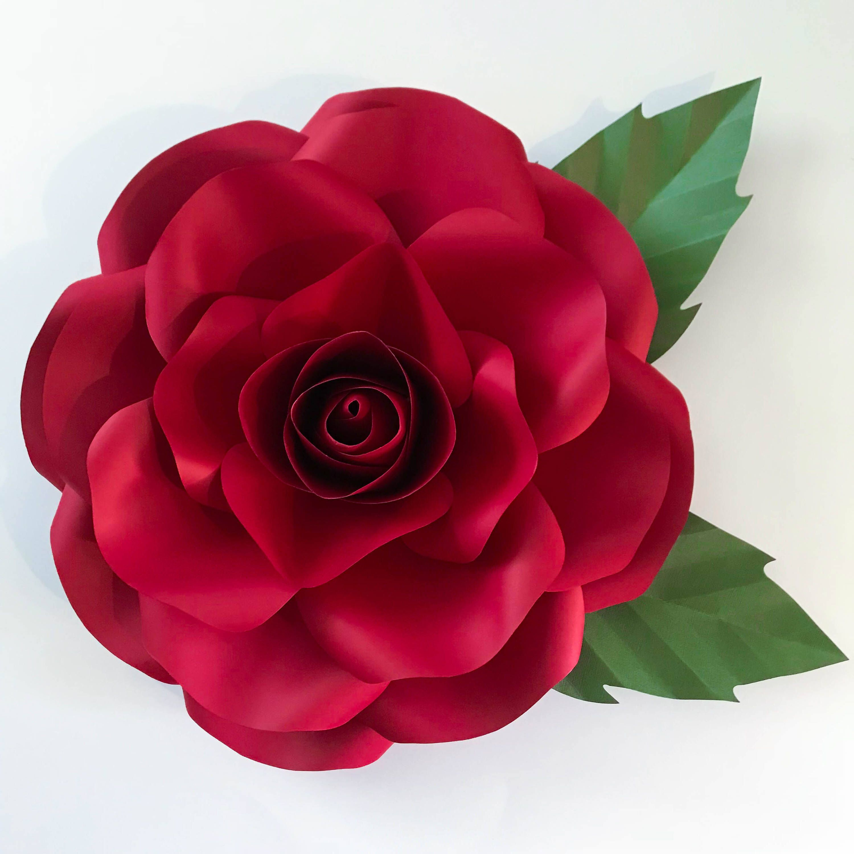 Paper Flowers SVG New Medium Rose Paper Flower Template