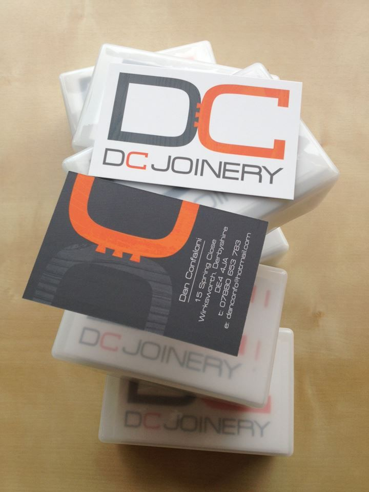 Business cards designed and prinetd for DC Joinery. | BOARD room ...