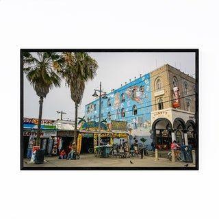 Noir Gallery Venice Beach Boardwalk La Framed Art Print Framed