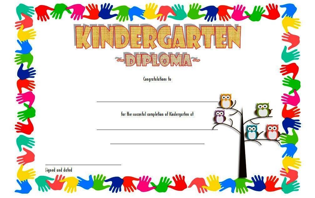 Free Printable Kindergarten Diploma Certificate Template 3 Kindergarten Diploma Kindergarten Graduation Certificate Kindergarten