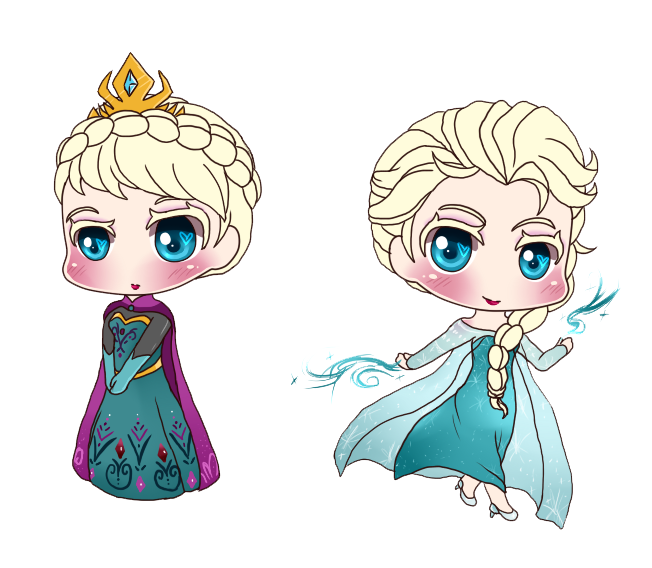 Frozen Elsa Chibi Wallpaper | Projects to Try | Pinterest ...