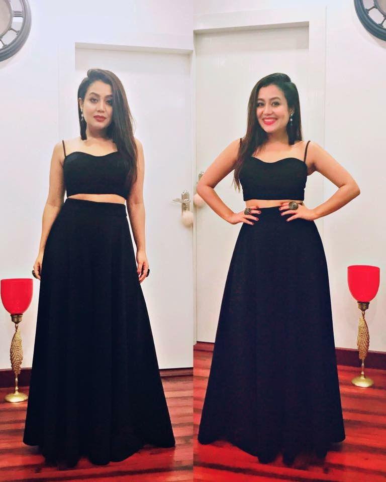 Neha Kakkar By Esra Gautam Neha Kakkar Dresses Floral Skirt Outfits Party Wear Dresses