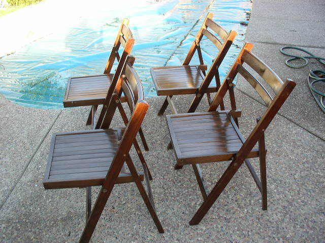 Mid Century Wood Folding Chair 49 With Images Wood Folding