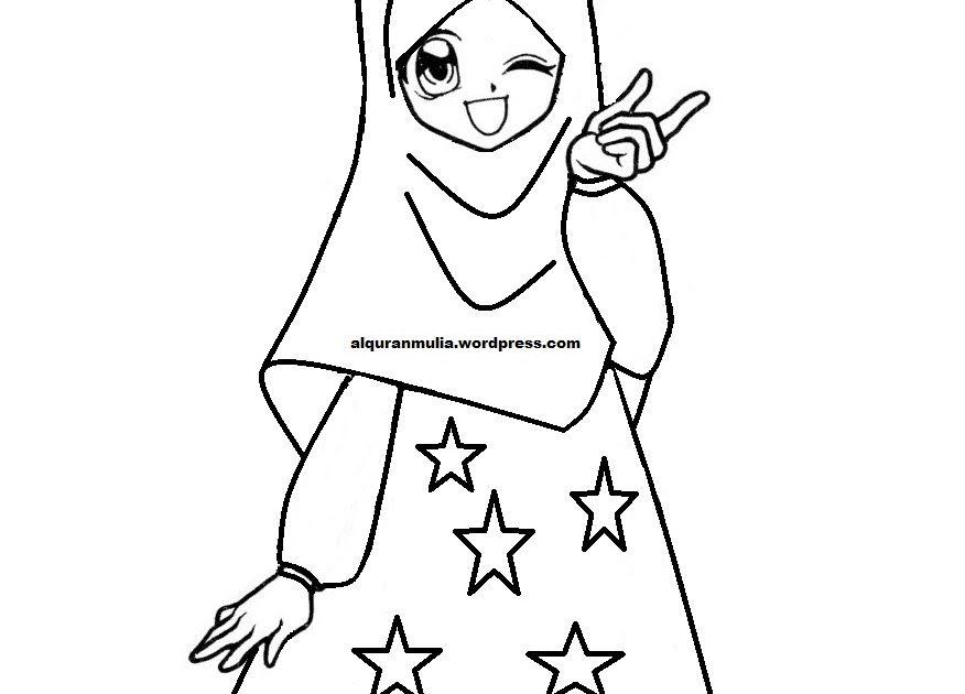 29 Gambar Kartun Muslimah Mewarnai Di 2020 Gambar Warna