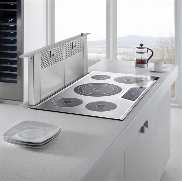 Thermador cooktop with pop up vent something like we for Stove top with built in vent