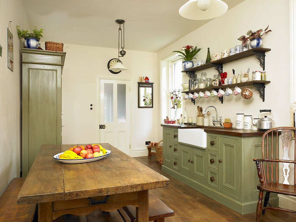 Farrow And Ball Calke Green Green Kitchens Pinterest