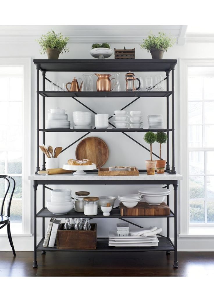 French Kitchen Bakers Rack with Hutch | Pinterest